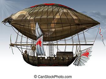 zeppelin., militaire, fantastique