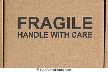 Kasten Stiel Paket Aufkleber Schiffahrt Fragile