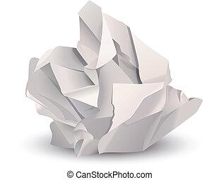 zerdrückte papierkugel