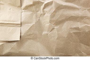 zerknittert, braunes papier