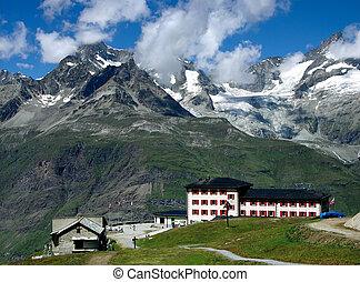 Zermatt Alps resort landscape in Switzerland