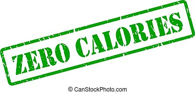 zero, calorie, vettore, francobollo