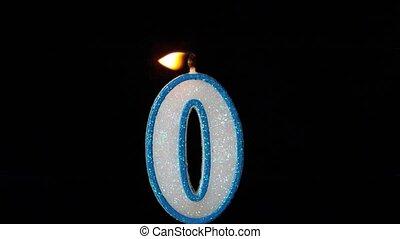 Zero candle flickering and extingui