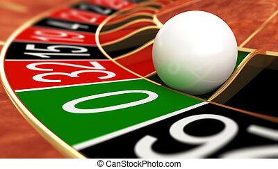 Zero - Casino roulette on zero. 3D illustration