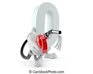 Zero character holding gasoline nozzle