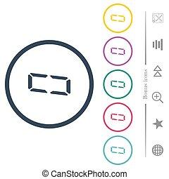 zero, colorare, numero, profili, digitale, tipo, icone, rotondo, segmento, sette, appartamento