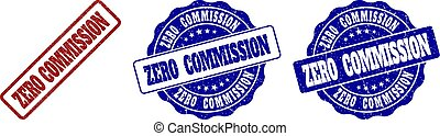 ZERO COMMISSION Scratched Stamp Seals