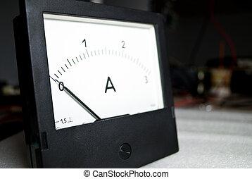 Zero current. Ammeter - Zero current. Electrical Ammeter...