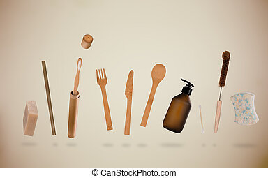 zero, desperdício, materiais, para, pessoal, hygiene.,...