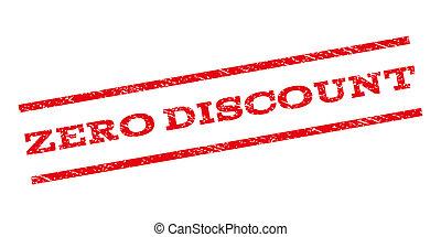 Zero Discount Watermark Stamp