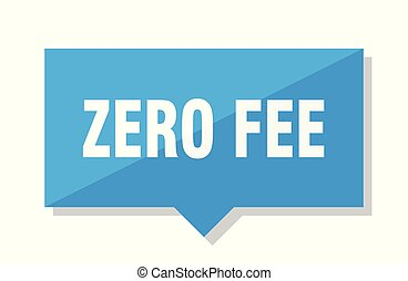zero fee price tag - zero fee blue square price tag