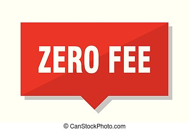 zero fee red tag - zero fee red square price tag