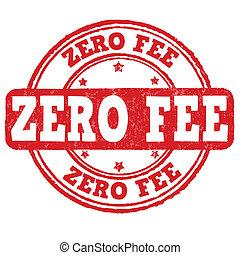 Zero fee stamp