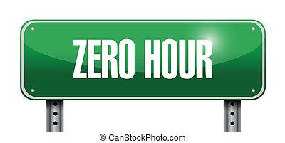 zero hour road sign illustration design