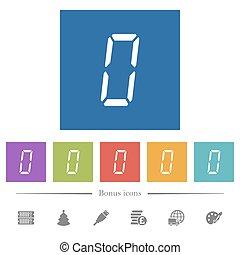 zero, numero, sfondi, icone, segmento, bianco, quadrato, sette, digitale, tipo, appartamento