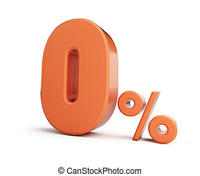zero percent, allowance. On a white background