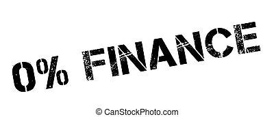 Zero percent finance black rubber stamp on white