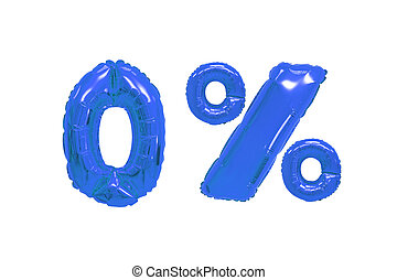 zero percent from balloons dark blue color