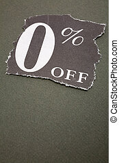 zero percent off, concept of sale, marketing