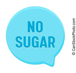 Zero Percent Sugar Banner, Round Speech Bubble. Icon for Healthy Food or Diabetes Production, Low Carb Eco Nutrition Package Design Isolated on White Background, Vector Illustration, Badge or Sign