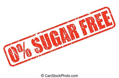Zero percent sugar free red stamp text