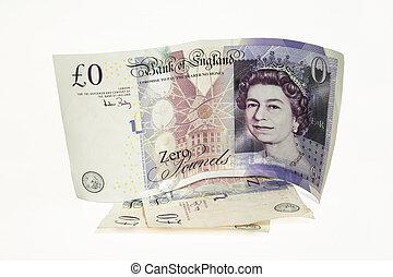 Zero Pound Note