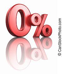 zero, procent, połyskujący, czerwony