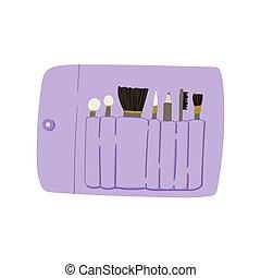 zero, spreco, cotone, scarabocchiare, fare, fatto, stile, bag., su, disegnato, mano, concept.