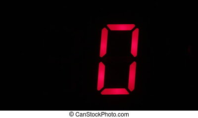 Zero symbol flashes red on the digital display. Technology ...