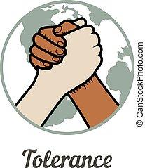 tolerance - Zero tolerance. World Tolerance Day. Vector ...