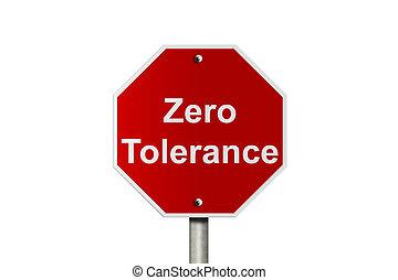 zero, tolerancja