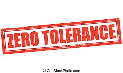 zero, tolleranza