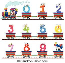 zero, treno, nove, numero