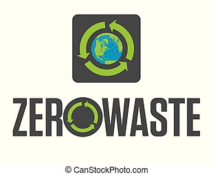 Zero Waste Badge or Emblem Vector Design.
