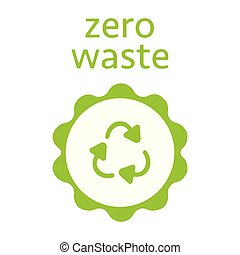 Zero waste, recycling sign. Icon. Modern vector illustration