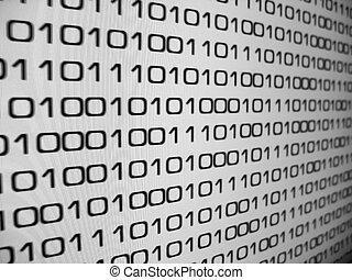 binary code - Zeros and Ones - binary code background.