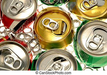 zerquetscht, soda, dosen
