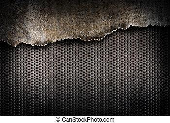 zerrissene , metall, hintergrund