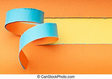 zerrissenen papier, mit, raum, für, dein, nachricht
