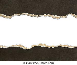 zerrissenen papier, ränder
