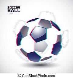 zersplittert, fußball ball