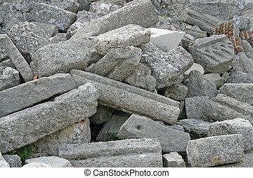 zerstörter , ruinen, schutt, erdbeben, kirche