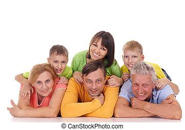 zes, gezin