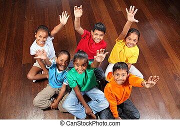 zes, onderricht kinderen, klassikaal