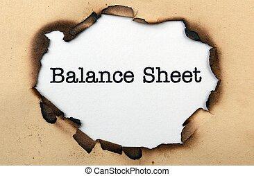 zestawienie bilansowe