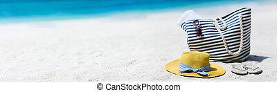 zet op het strand vakantie