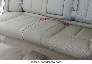 zetels, leder, auto