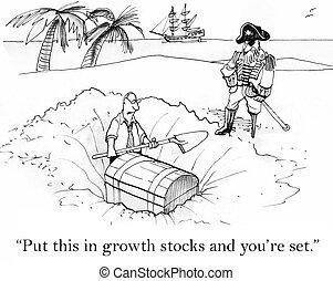 zetten, dit, in, groei, aandelen, en, u bent, set