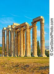 zeus, アテネ, 寺院