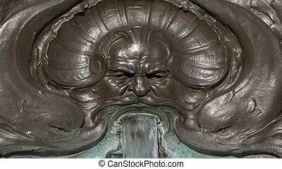 Zeus fountain Buckingham Palace in London, UK